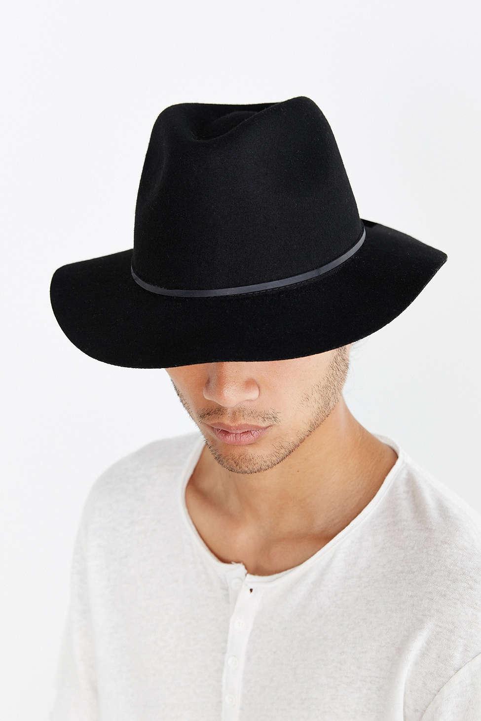 34530855f66 Rosin Wide Brim Felt Fedora US $45 NZ $70.31. 3 Brixton Messer Fedora Hat
